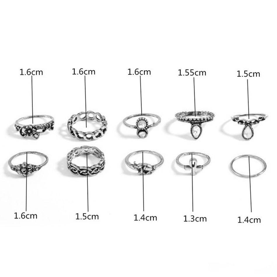 Lovelymusthaves Hip boho bohemian style ring set