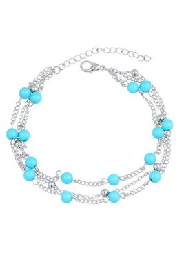 Beads ankle strap