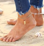 Lovelymusthaves Feather ankle strap