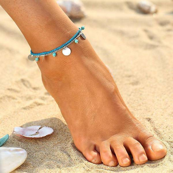 Lovelymusthaves Beaded ankle strap