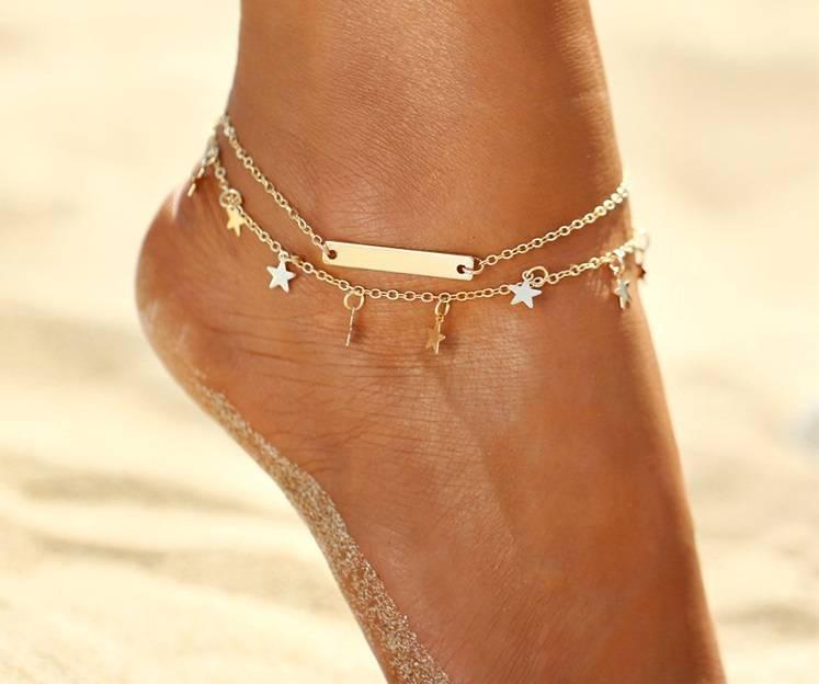 Lovelymusthaves Star bar ankle strap