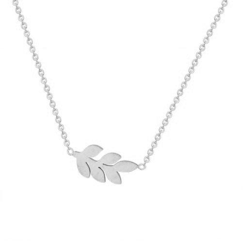 Deze minimalistische platte leaf ketting is helemaal trendy. minimalistische kettingen kom je tegenwoordig ...