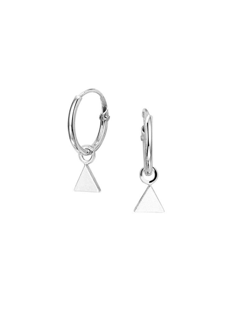 Musthave trendy triangle driehoek creool van echt sterling zilver 925