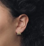 Lovelymusthaves Minimalist open triangle triangle earrings