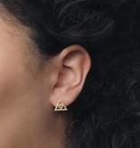 Lovelymusthaves Minimalistische open triangle driehoek oorbellen