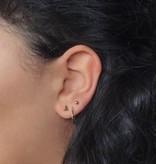 Joboly Very small subtle triangle earrings