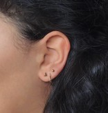 Lovelymusthaves Very small subtle triangle earrings
