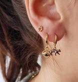 Vintage luipaard oorbellen