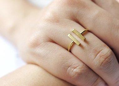 Minimalistische Ringen
