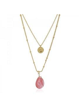 Joboly Mehrschichtige Steinmünze-Halskette