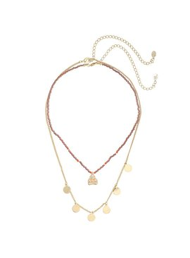 Lovelymusthaves Multilayer buddha coin ketting