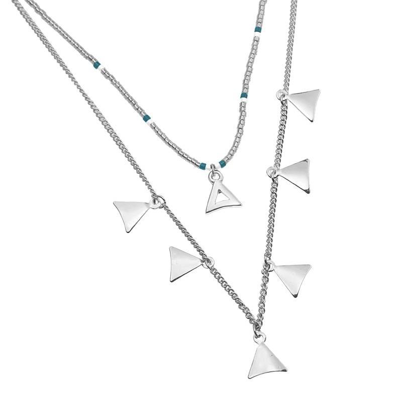 Lovelymusthaves Multilayer driehoek ketting