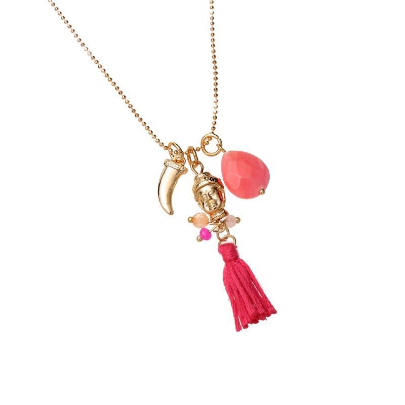 Lovelymusthaves Ibiza buddha necklace