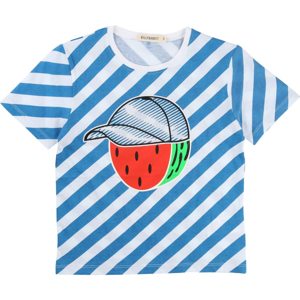 Billybandit billy bandit shirt watermelon blue white