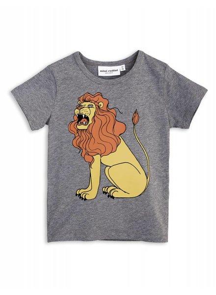Mini rodini Mini Rodini Lion SS Tee Grey Melange