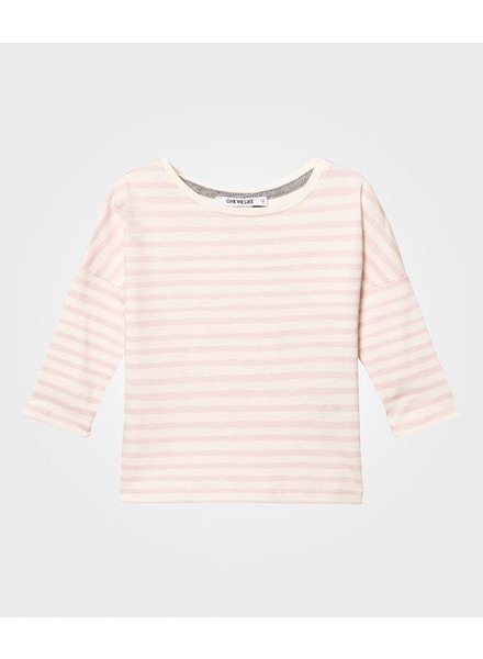One we like Owl longsleeve stripe pink