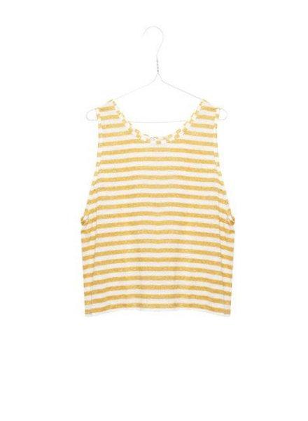 Ropachica yellow stripe linnen hemd