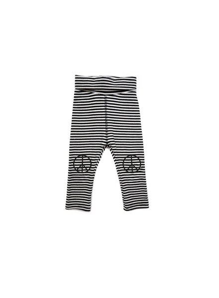 Sproet&Sprout Sproet&Sprout Legging Print Peace- Rib Knit Stripe