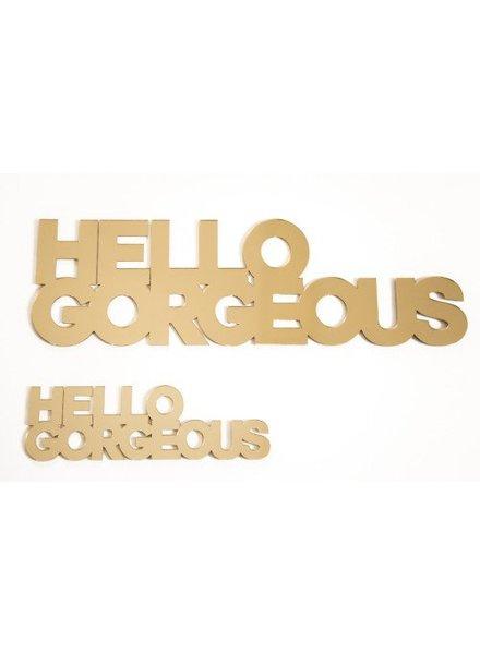 NYNstyles Hello gorgeous Goud groot