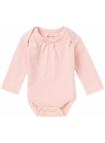 noppies Romper lange mouw blush 74403
