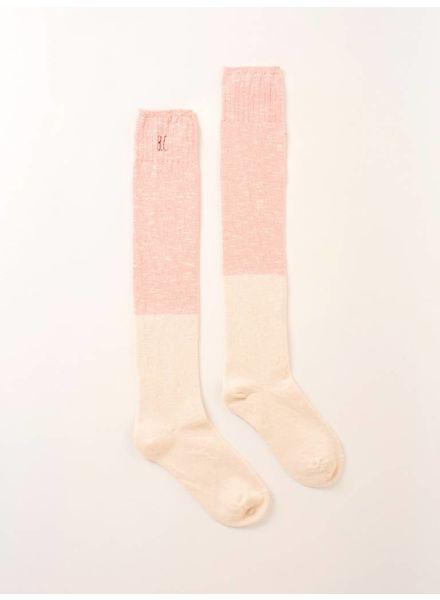 Bobo choses Bicolour lange sokken 217246 misty rose