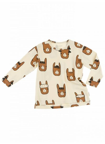 Tiny cottons longsleeve lama heads shirt