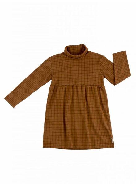 Tiny cottons Grid jurk met col