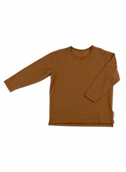 Tiny cottons Grid ls tee bruin