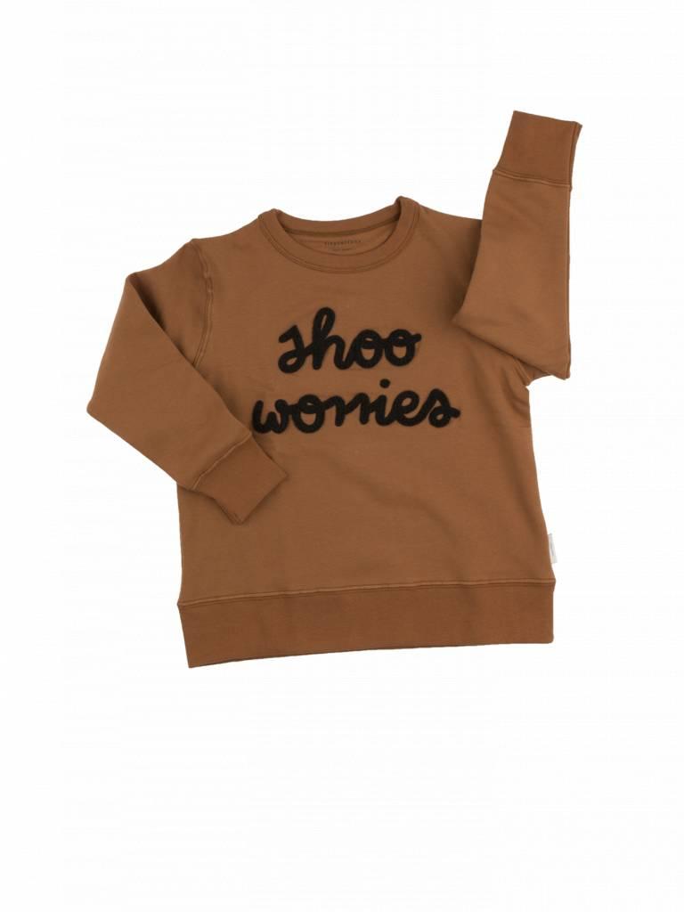 Tiny cottons Sweater bruin shoo worries
