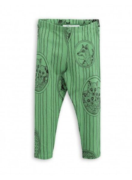 Mini rodini Fox family legging green