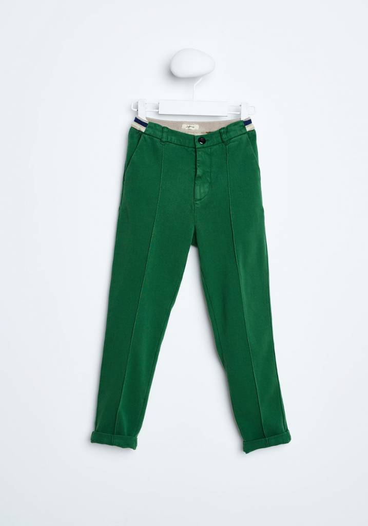Bellerose Groene sweat chino