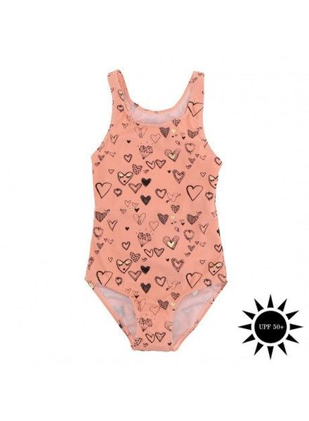 Soft Gallery Peak swimsuit coral almond