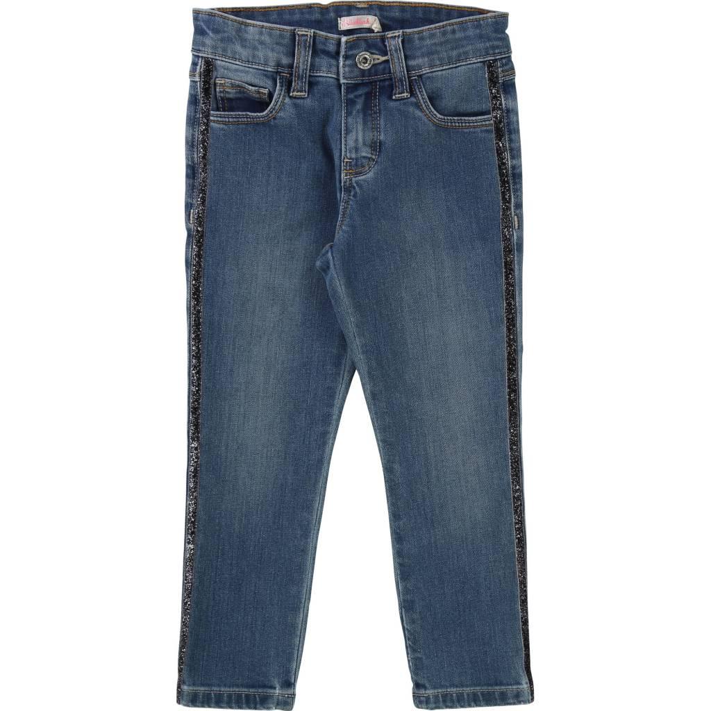 Billie blush Skinny jeans met glitterbies u14235
