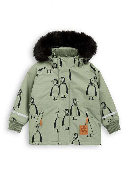 Mini rodini Penguin parka green