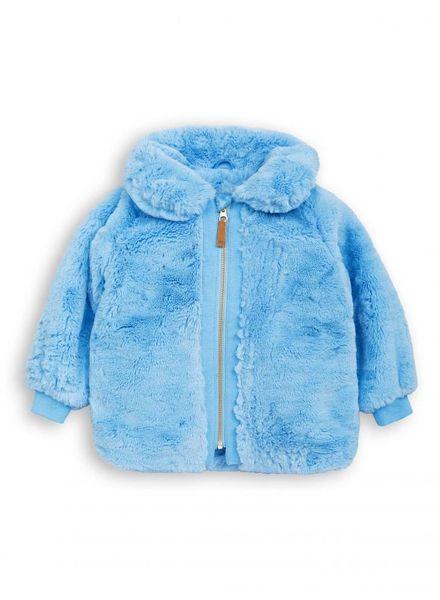 Mini rodini Faux fur jacket light blue