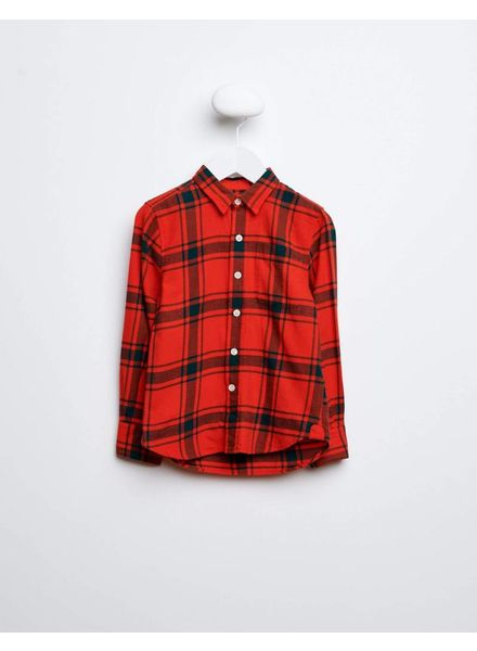 Bellerose Rode geblokte blouse