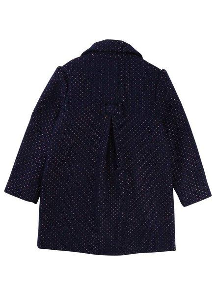 Carrement beau Donkerblauwe jas met goud