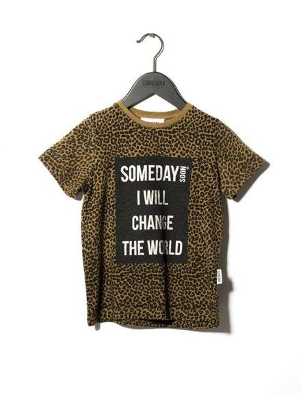 SOMEDAY SOON Someday thsirt khaki leopard