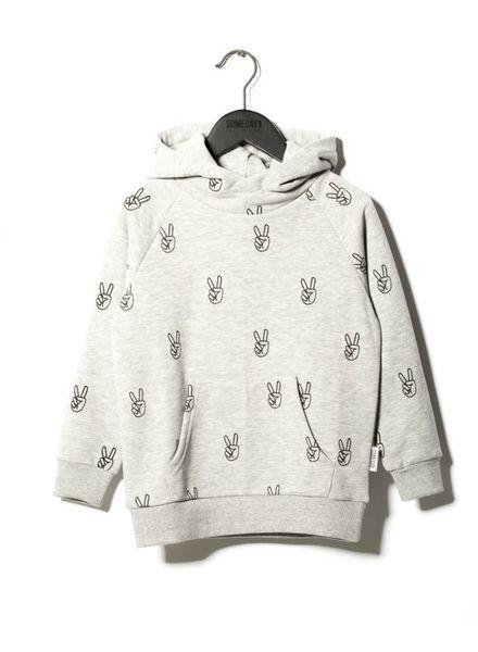SOMEDAY SOON Power hoodie lightgrey