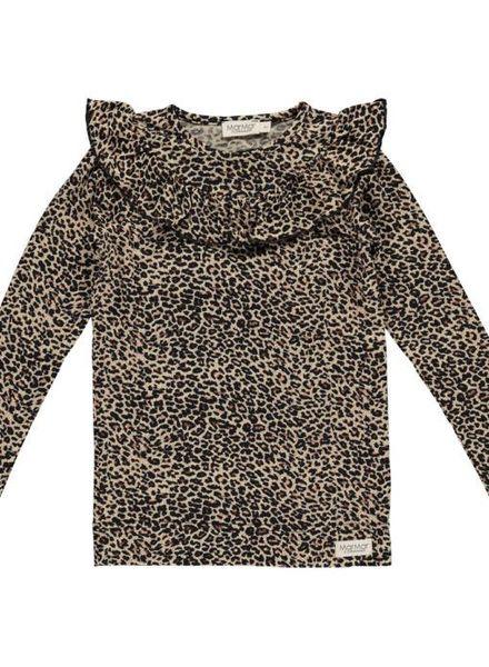 MarMAr CPH Leopard tessie longsleeve met ruffel brown
