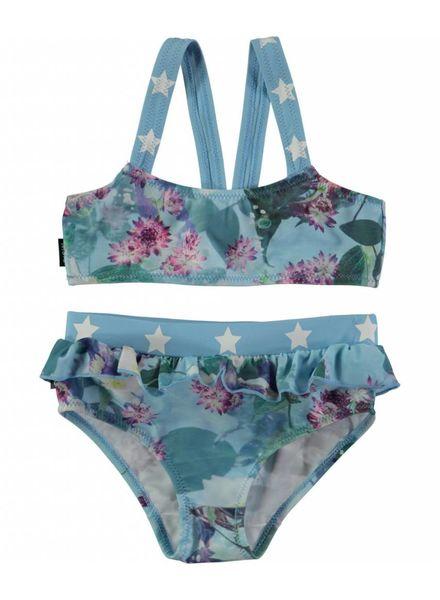 Molo Naila  Bikini aqua flowers