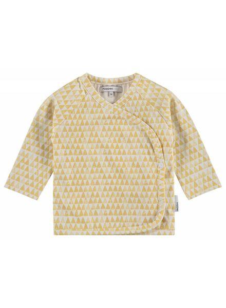 noppies shirtje Kade overslag geel