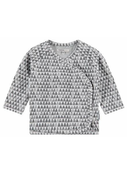 noppies Shirtje Kade overslag grijs