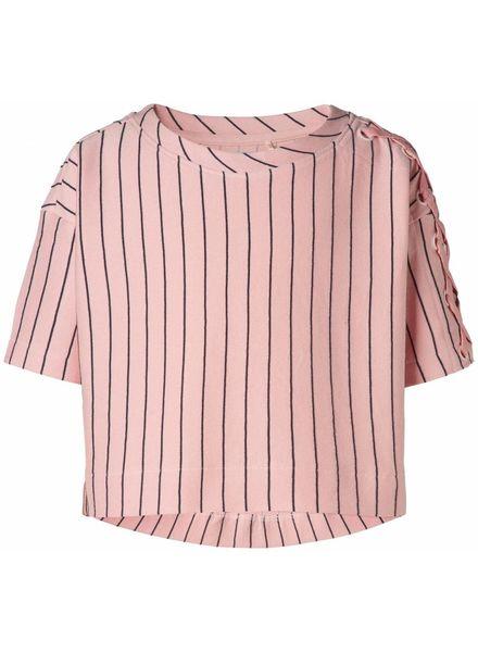 noppies Tshirt stripe roze Kendall