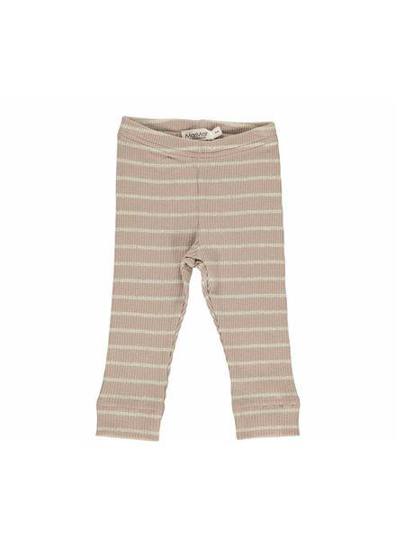 MarMAr CPH Legging modal stripes rose/gold