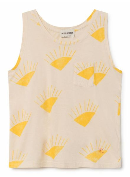 Bobo choses Sun tank top beige met geel