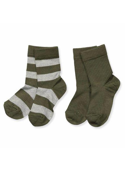 MP Denmark Groene sokken 2pack