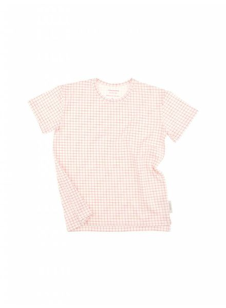 Tiny cottons Grid ss tee ss18-033 roze