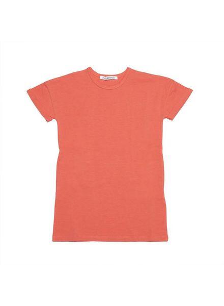 mingo Tshirt dress deep sea coral
