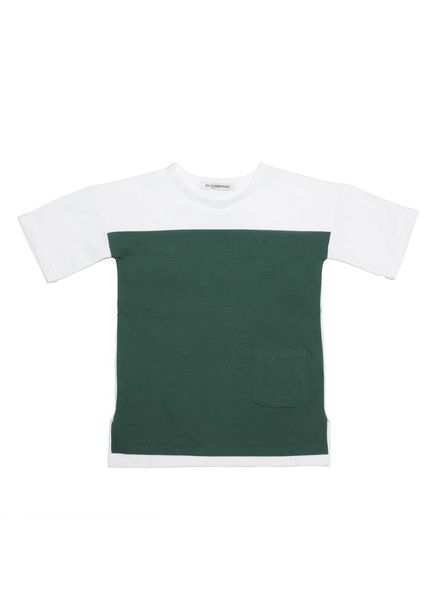 mingo T-shirt white/rain forest green